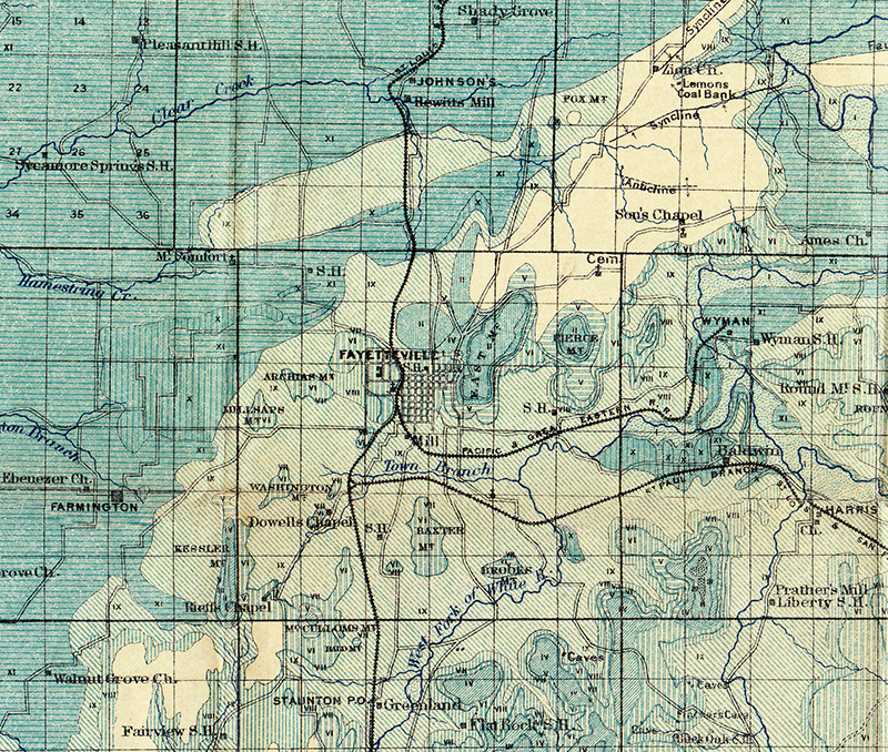 Map Of The Month Arkansas Geological Survey  1888