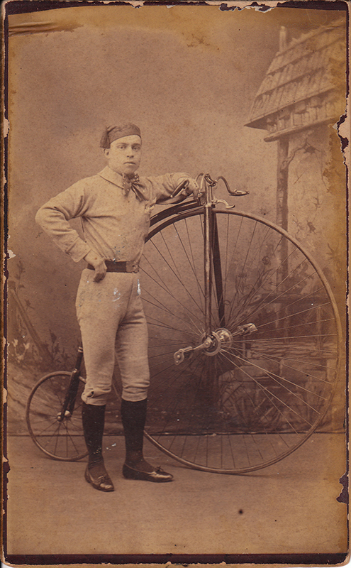 Fay Reed with Bicycle