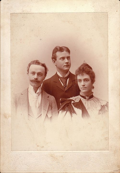George, William and Lina Reed